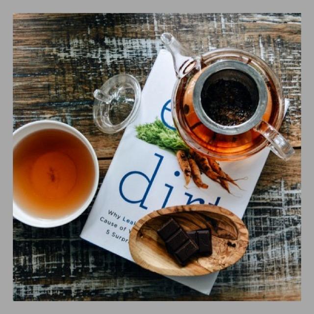 thé vert et chocolat tasse