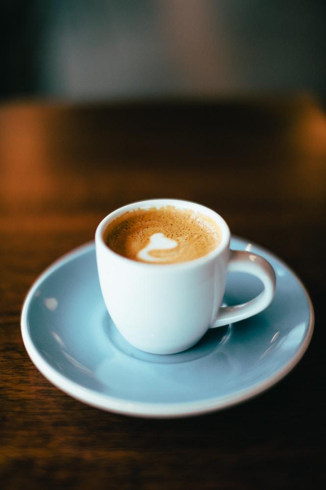 Café tasse bleue