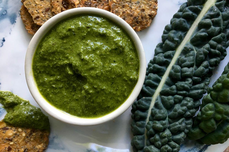 pesto de kale sans fromage