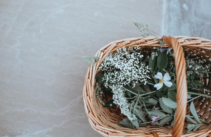 Paniers fleurs