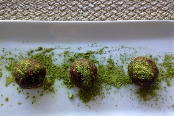 truffes thé vert chocolat