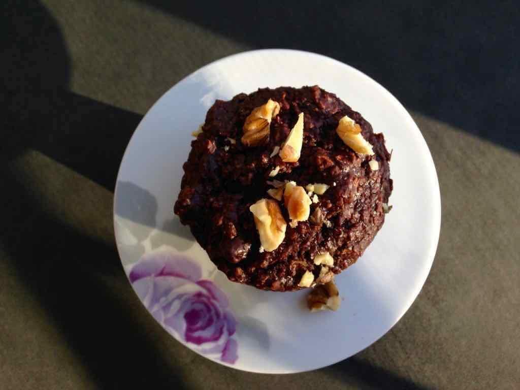 Muffins 2 bouchées chocolat et zucchinis