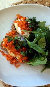 Tartine aux carottes