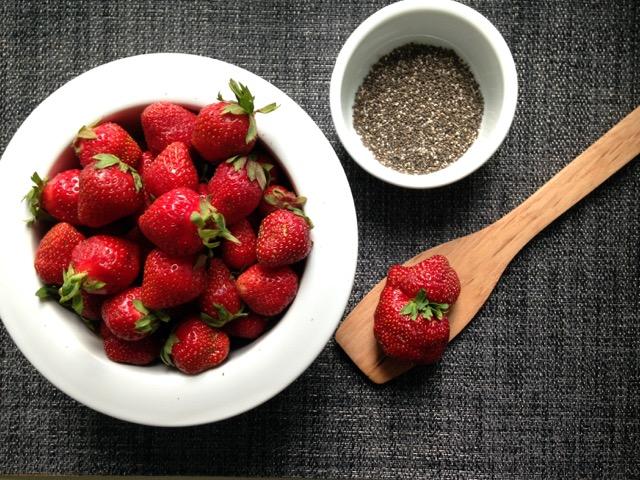 confitures fraises et chia