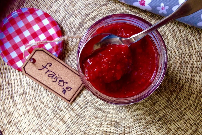 Confitures fraises graines chia