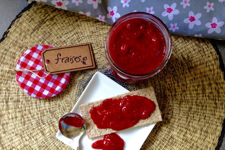 confitures de fraises et chia