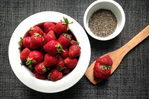 confiture de fraises et chia