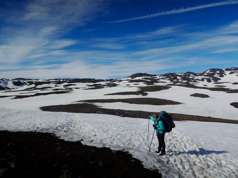 islande randonnée Evelyne neige