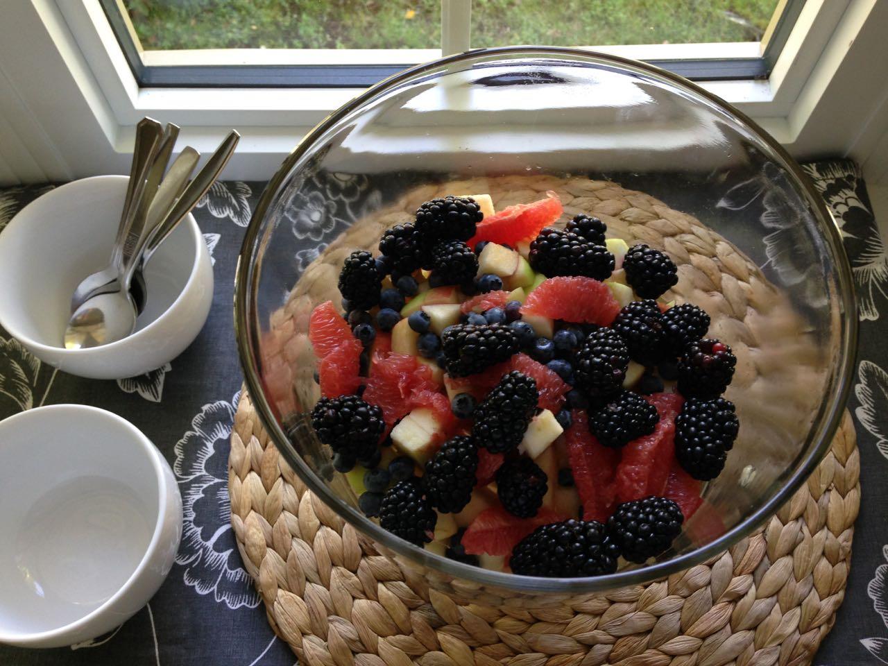 salade de fruits fenêtre