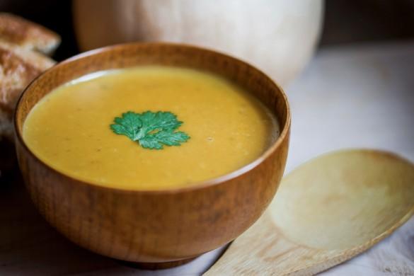 soupe au maïs et à la courge