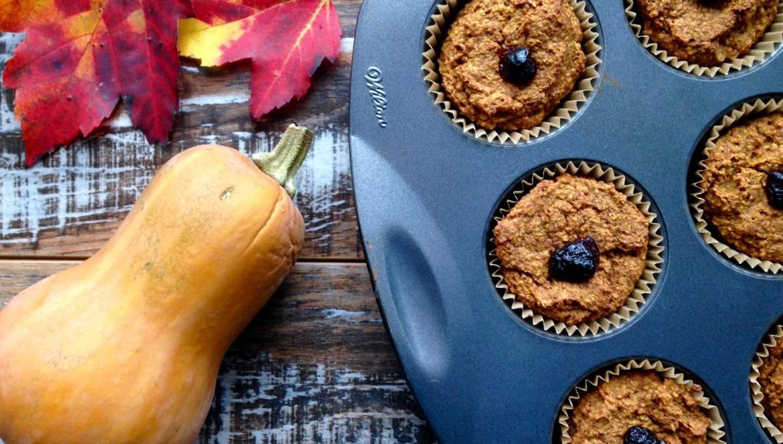 Muffins d'avoine à la courge butternut