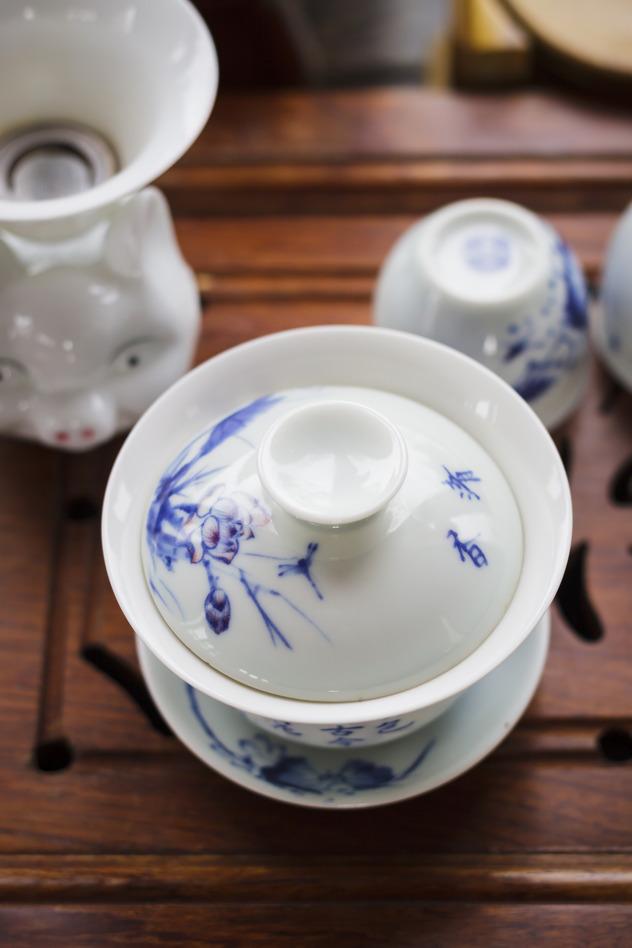 gaiwan tasse bleue