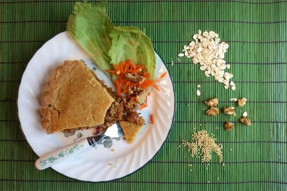 tourtière de millet végé sans gluten