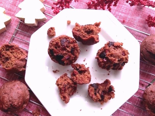 muffins aux betteraves assiette