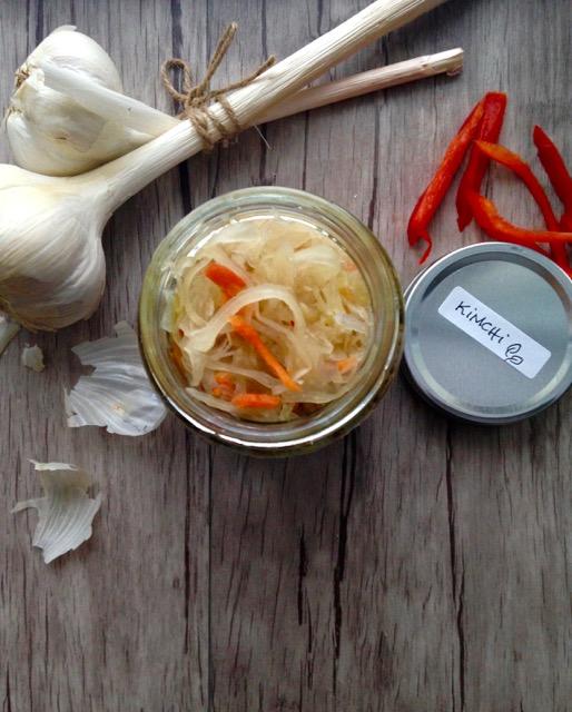 Kimchi en pot