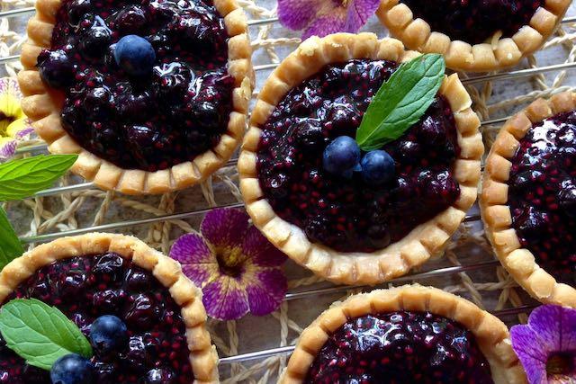 recettes d'été avec Tartelettes bleuets