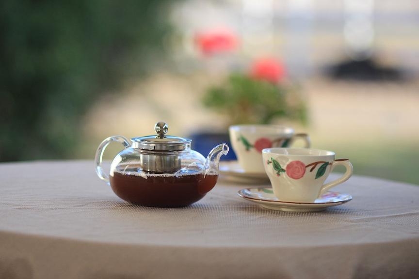 thé pour célébrer les années