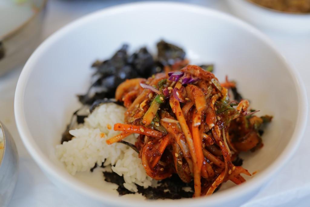kimchi avec riz