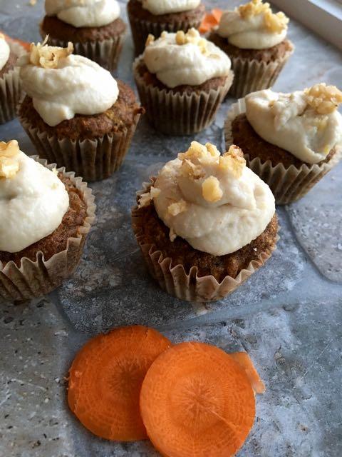 muffins sans gluten carottes crémage
