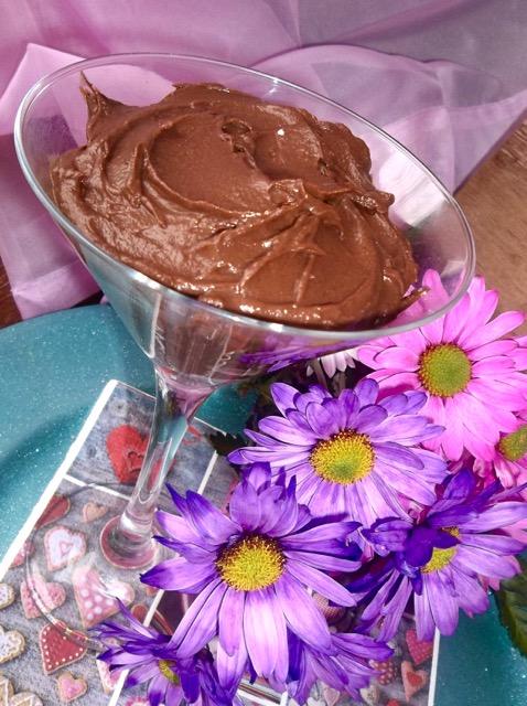 mousse aphrodisiaque au chocolat et à l'avocat