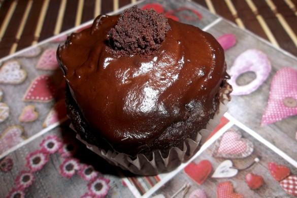 Muffins brownies sans farine à la mousse au chocolat