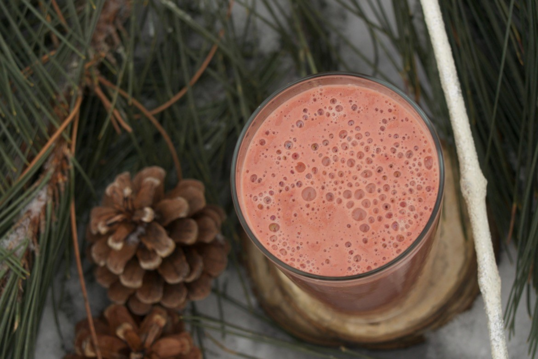 Smoothie d'hiver fraises, thym et balsamique