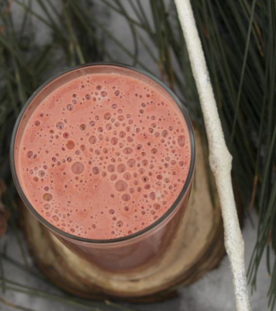 smoothie d'hiver fraises lentilles