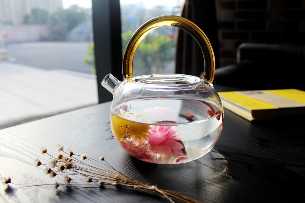 thé au jasmin pot