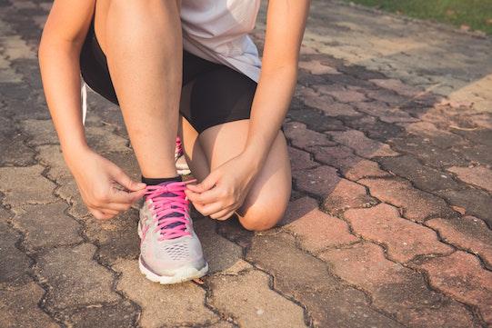 courir femme chaussures lacet