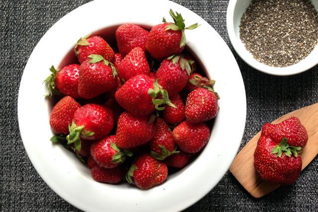 confiture de fraises graines chia
