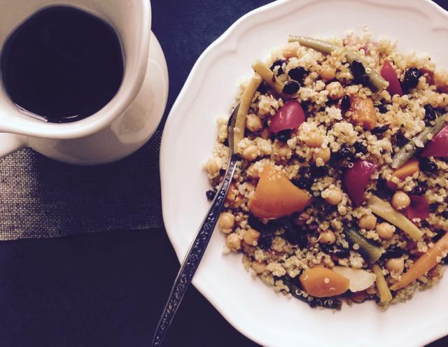 couscous de quinoa aux légumes