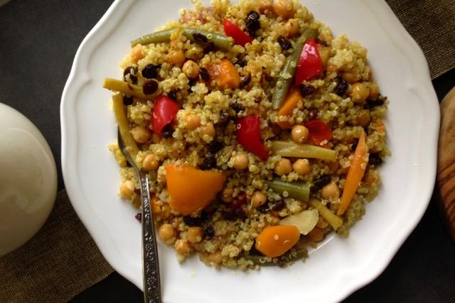 couscous de quinoa pois chiches légumes