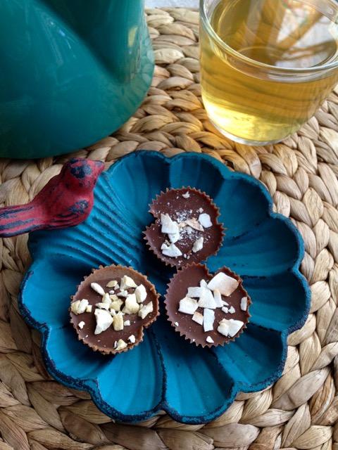 bouchées au chocolat sans sucre