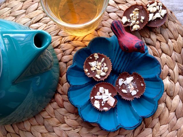 bouchées glacées au chocolat sans sucre