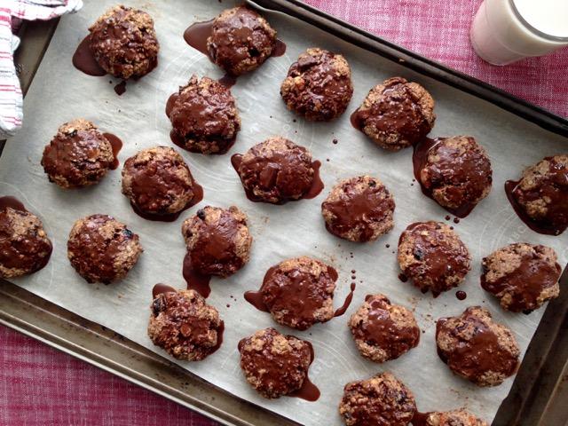 biscuits au chocolat avec glaçage
