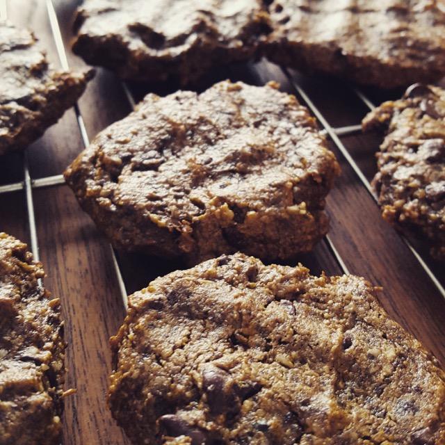 recettes coup de coeur: biscuits pépites de chocolat végan