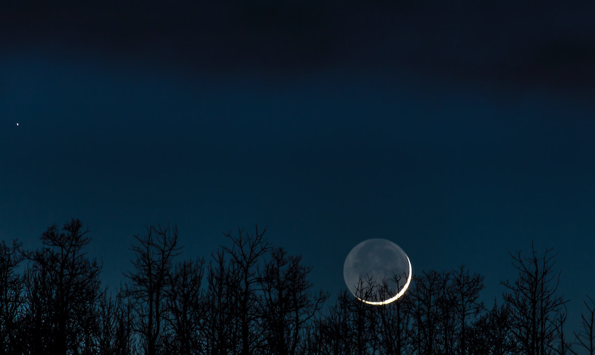 lune ciel matin