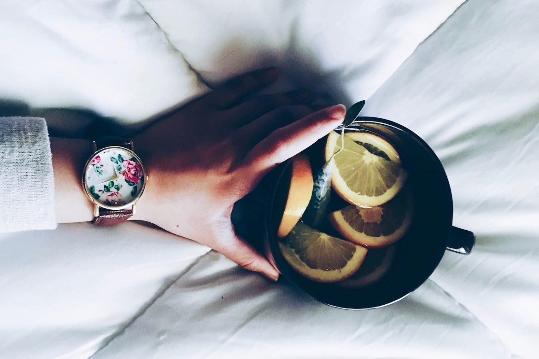 tisanes dhiver tasse citron orange