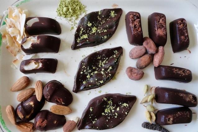 chocolats maison matcha