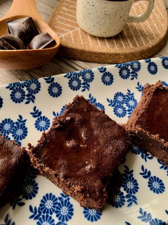 carrés au chocolat sans gluten