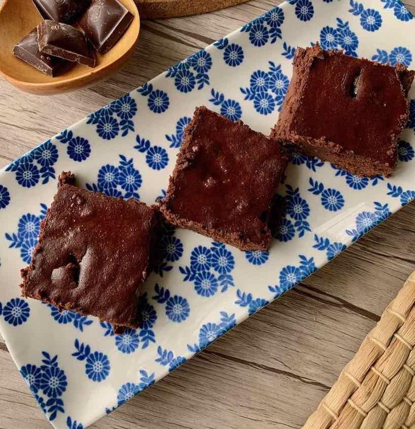 carrés chocolat sans gluten courgettes