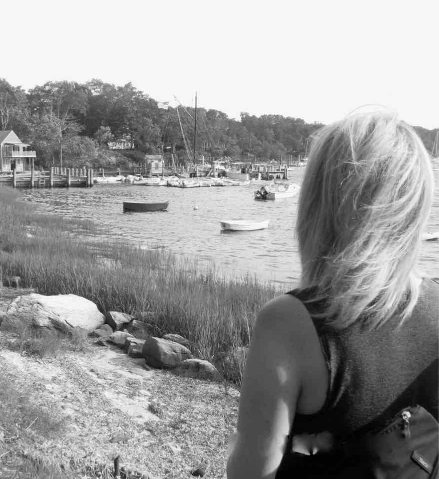 femme lac